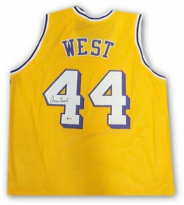 427e46ed7 Jerry West Hand Signed Autographed  44 Yellow Jersey Los Angeles Lakers  Beckett