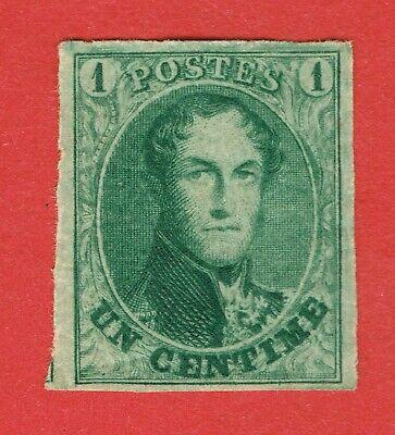 [/sto408] BELGIUM 1861 Scott#9b mlh Dark Green cv:$500 *Genuine & original gum*