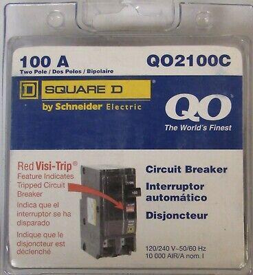Square D Qo2100 Type Qo Circuit Breaker 100 Amp 2 Pole Qo2100c