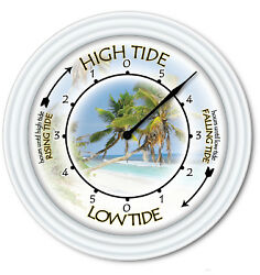 Tide Clock Palm Trees - Times Of Tides - Florida Beach Ocean Boat Surfing GIFT
