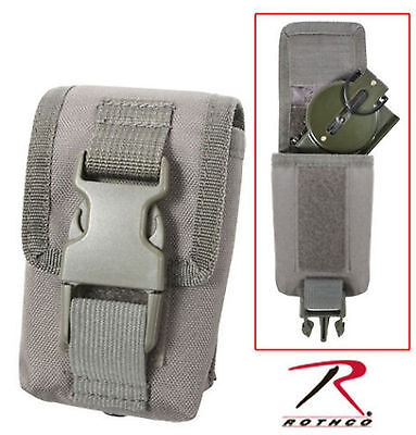 US MILITARY ARMY CAMPING HIKING MOLLE FOLIAGE COMPASS STROBE GPS POUCH CASE