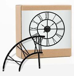 Bulova® CARMEN Oversized Gallery 45 Metal Wall Clock, Aged Iron Finish # C4820
