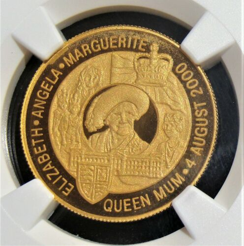 Zambia: 2000 Gold 10,000 Kwacha Queen Mother