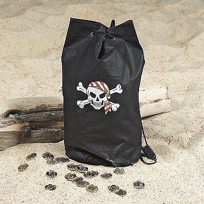 12 Fun Pirate Loot Back Pack Party Favors Backpacks Favor Skull Treasure Bags - Pirate Loot Bags