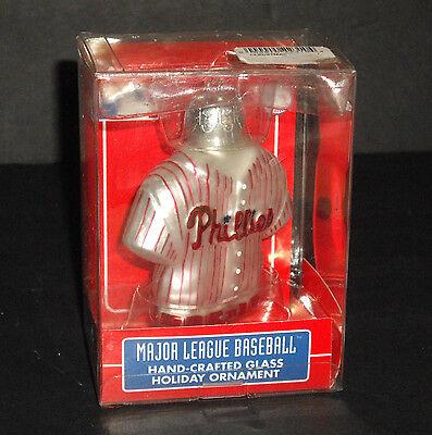 - 2005 Kurt Adler MLB Philadelphia Phillies Jersey Glass Ornament NEW in Box