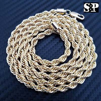 NEW HIP HOP 80'S RAPPERS 14K GOLD PLATED 5MM 30