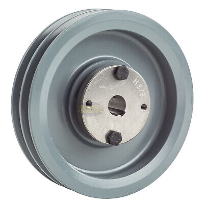 Cast Iron 6 2 Groove Dual Belt A Section 4l Pulley With 58 Sheave Bushing