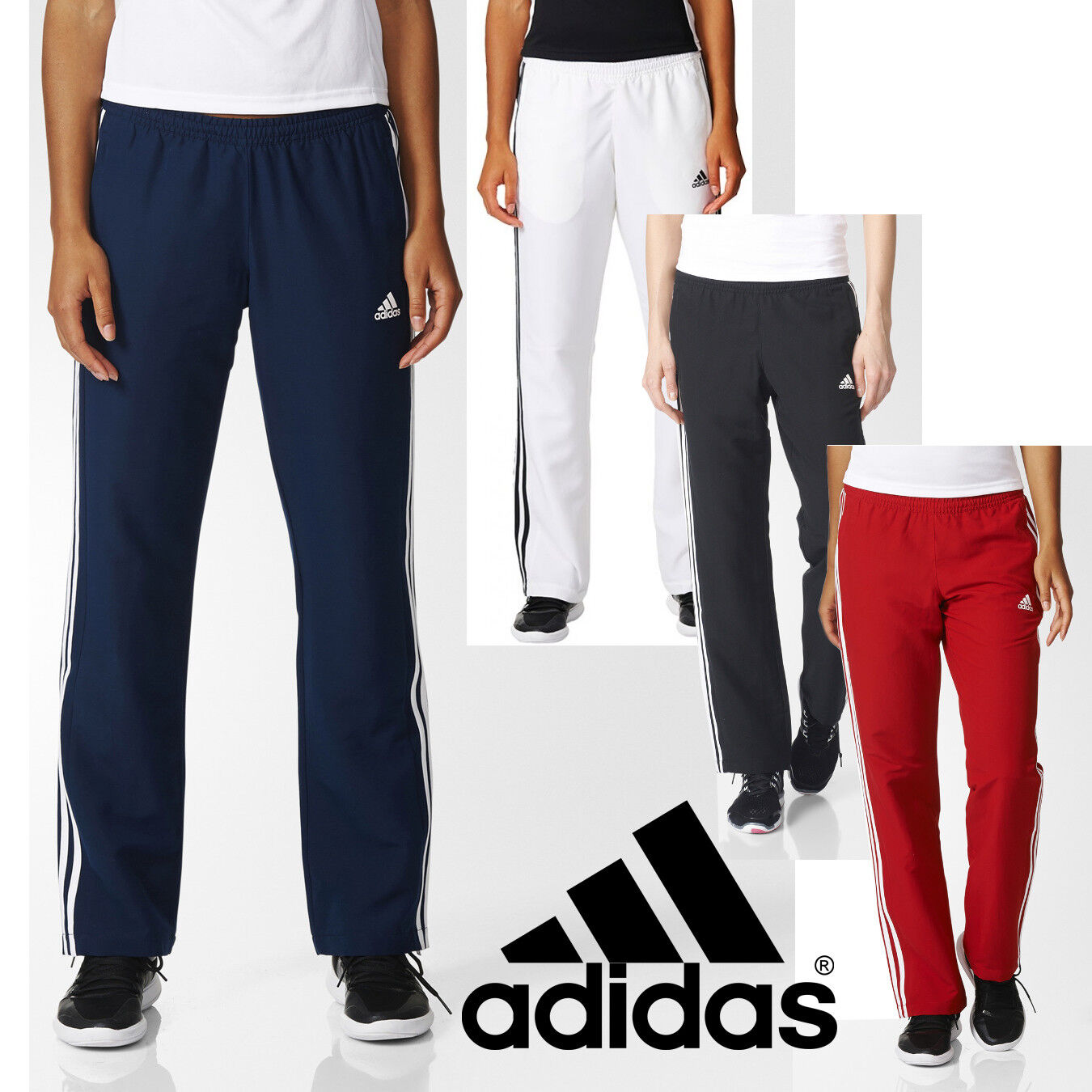35a63fe8435 Details about adidas Team T16 Women's Tracksuit Trousers Running Gym Sports  Track Pants - SALE