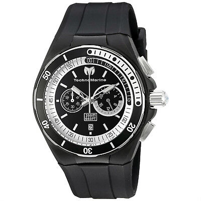 Technomarine TM-115159 Sport Cruise Black Silicone 45mm Chronograph Watch ()