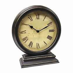Infinity Instruments 12131KG-TW Dais Traditional Style Round Table Clock