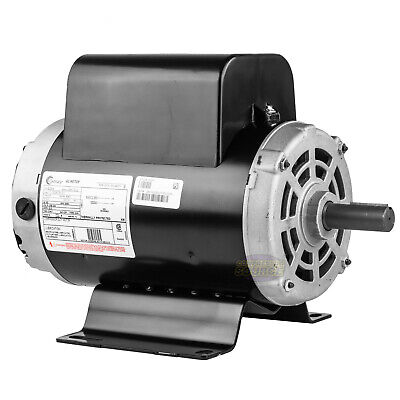 5 Hp 3450 Rpm Air Compressor Electric Motor 60 Hz 208-230 Volts Century B384 56y