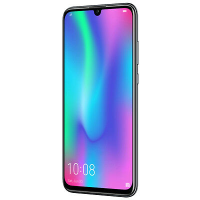 "New Huawei Honor 10 Lite Black 6.21"" 64GB Dual Sim 4G LTE Android 9 Sim Free UK"