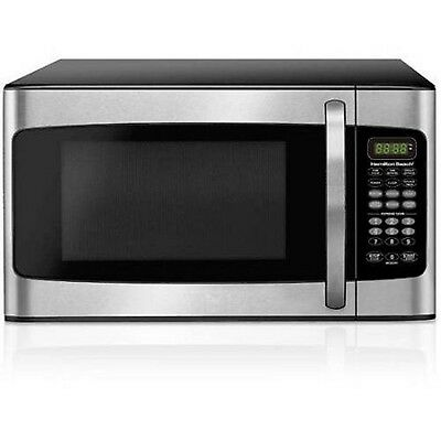 Hamilton Beach 1.1 cu ft Microwave Oven Kitchen Essential Dorm Stainless Steel