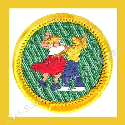 FOLK DANCING DANCER Badge NEW 1960s Cadette Girl Scout Patch Costume Multi=1 Shp - Girlscout Costume