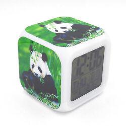 New Led Alarm Clock Panda Bamboo Creative Digital Table Clock for Kids Toy Gift