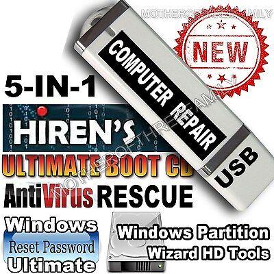 Hirens Boot Usb Computer Repair   Password Recovery Win7 8 Vista   Xp 10