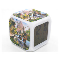 New Alarm Clock Dinosaur Rex Creative Digital Table Led Clock for Kids Toy Gift