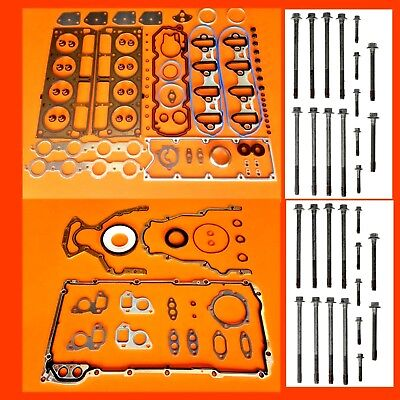 02-08 FITS CHEVY SILVERADO  GMC SIERRA  4.8 5.3 V8 FULL GASKET SET + HEAD BOLTS