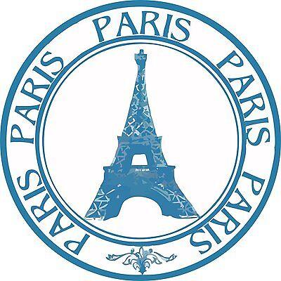 Autoaufkleber-Aufkleber US5769 Paris France Stamp Eiffel Tower Round 127mmX127mm