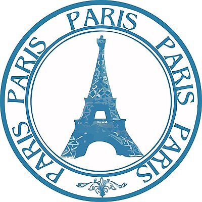 Autoaufkleber-Aufkleber US5769 Paris France Stamp Eiffel Tower Round 127mmX127mm (Paris Aufkleber)