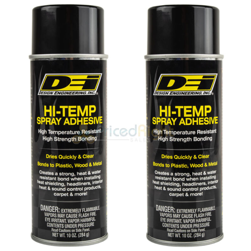 2 Pack Hi Temp Spray Adhesive 10 oz. Can Headliner Glue Upholstery High Strength
