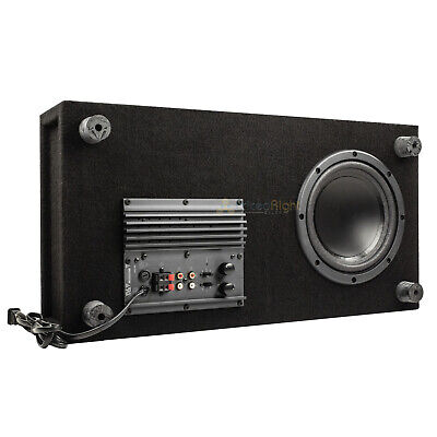 """8"""" Powered Home Theater Subwoofer Low Profile Slim 100 Watts"""
