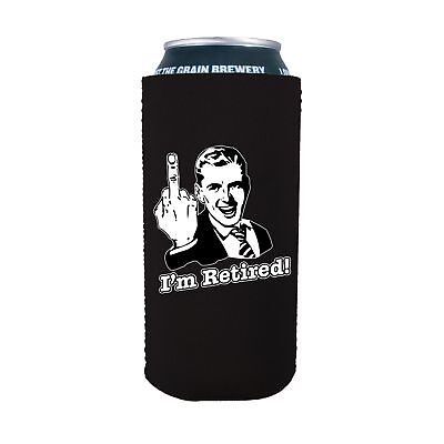 I'm Retired 16 oz. Neoprene Pint Can Coolie; retirement, party, gift, retire](Retirement Party Gifts)