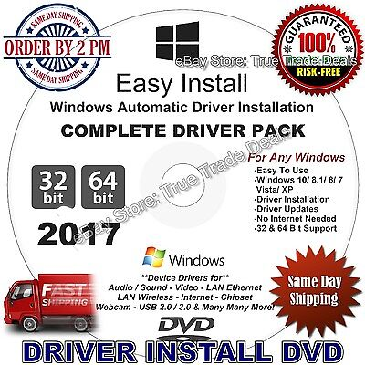 2017 Windows Drivers Restore Recovery DVD Disc for Windows 10, 8.1, 7, Vista, XP