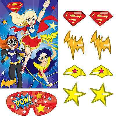 Superhero Birthday Party Games (DC Super Hero Girls Party Game ~ Birthday Decorations Party Favor)