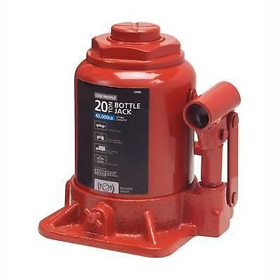 Low Profile Hydraulic Bottle Jack 20 TON Automotive Shop Axle Jack Hoist Lift