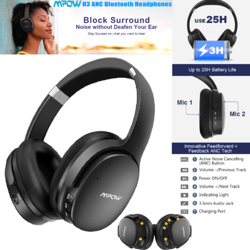 Mpow H10 Noise Cancelling Wireless Bluetooth Over Ear Headph