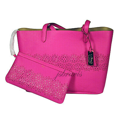 831f8041a RALPH LAUREN Laser Cut Perforated Chantilly II Classic Tote Bag   Clutch •  Pink.  . 164.90. Buy It Now. Free Shipping