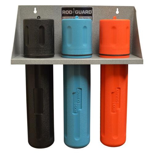 "Storage Rack With 14"" BLACK, BLUE, and ORANGE Welding Electrode Rod Guard®"