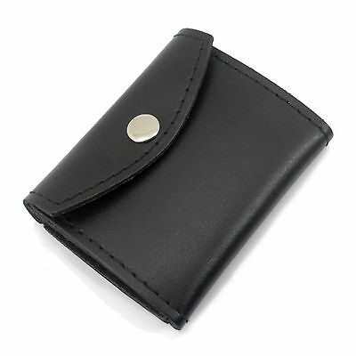 Universal Black Leather Work Badge ID Card Drivers License Case Holder Wallet
