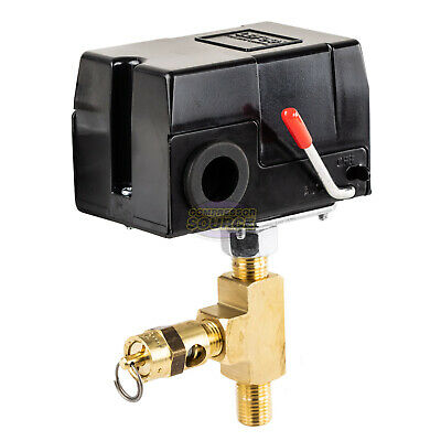 Replacement Pressure Switch Craftsman Air Compressors W Relief Valve 95-125 Psi