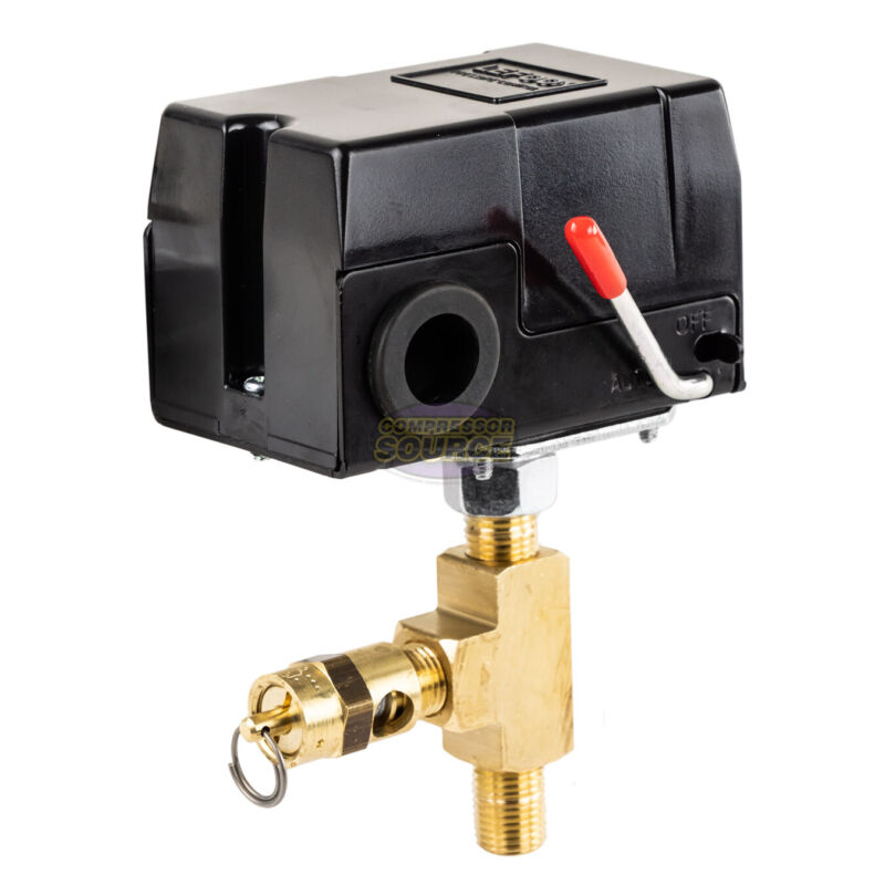 Replacement 95-125 PSI Pressure Switch Craftsman Air Comp w 140 PSI Relief Valve