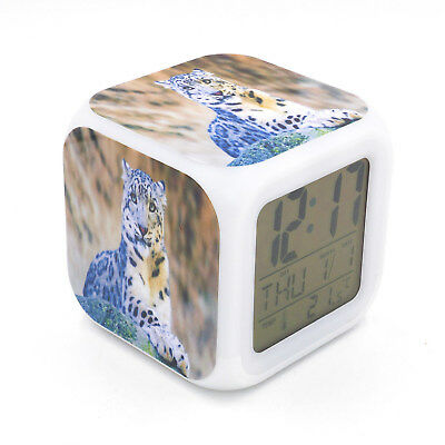 Led Alarm Clock Snow Leopard Creative Digital Table Alarm Clock for Kid Toy Gift - Snow Leopards For Kids