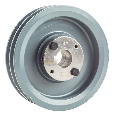Cast Iron 6.25 2 Groove Dual Belt A Section 4l Pulley With 1 Sheave Bushing