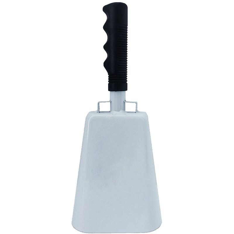 """10"""" LARGE METAL COW BELL w/ HANDLE Dinner Cowbell Sports Cheer Events Loud Noise"""