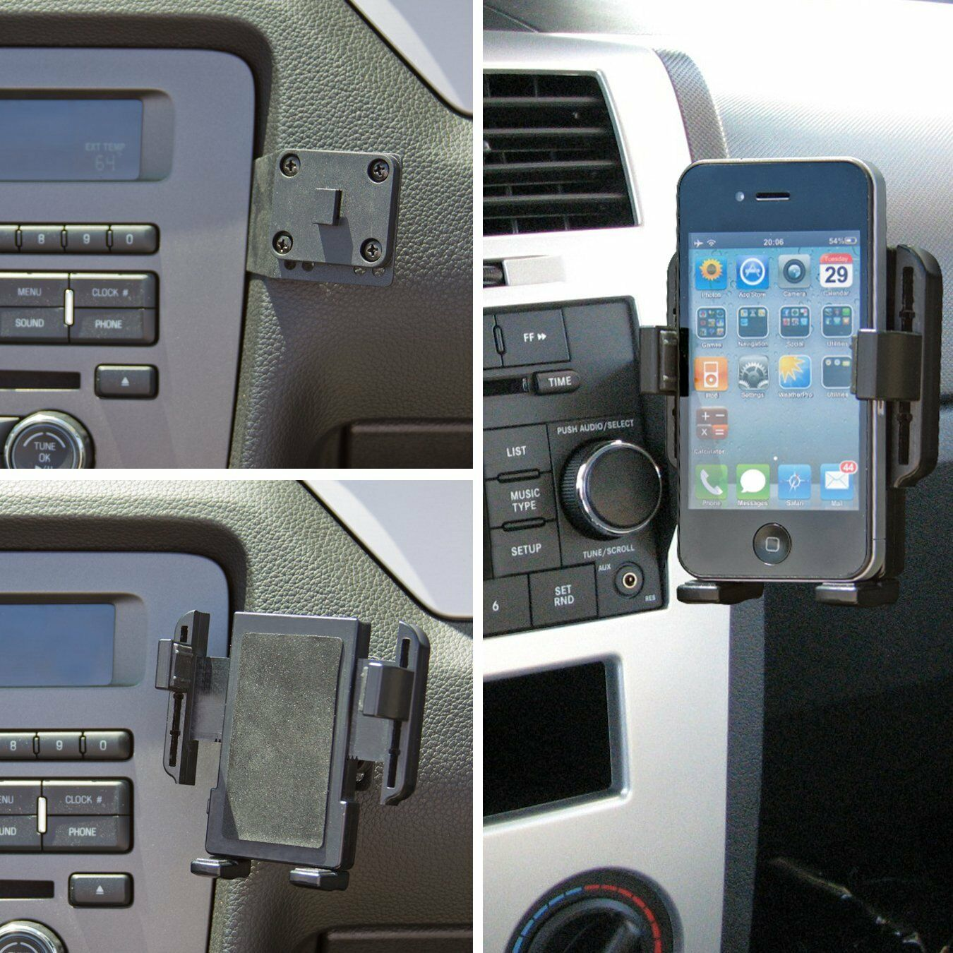 Panavise Universal Phone Holder With AMPS Mount  #15575
