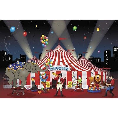 Carnival Circus Big Top 9' Backdrop Banner Wall Photo Backdrop Scene Setter - Circus Carnival Decorations