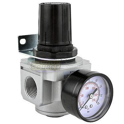 34 Air Compressor Pressure Regulator W Gauge Inline Industrial Quality New