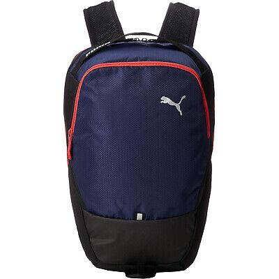 Puma X Sports Gym Training Running Backpack Rucksack Bag Navy Blue/Red