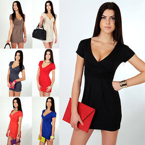 Classic-Elegant-Womens-Dress-V-Neck-Cocktail-Tunic-Holiday-Size-8-18-130