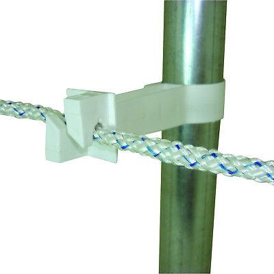 Field Guardian Pipe Clamp Insulator White 102512  814421013385