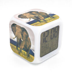 Elephant Led Alarm Clock Creative Desk Digital Alarm Clock for Adults Kids Gift