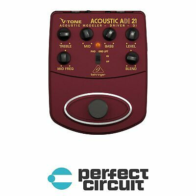 Behringer ADI21 Acoustic Driver DI Pedal EFFECTS - NEW - PERFECT CIRCUIT