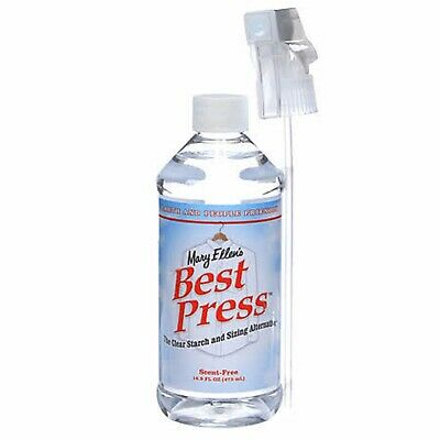 Mary Ellen Products Best Press Spray Starch Scent Free 16oz Quilting