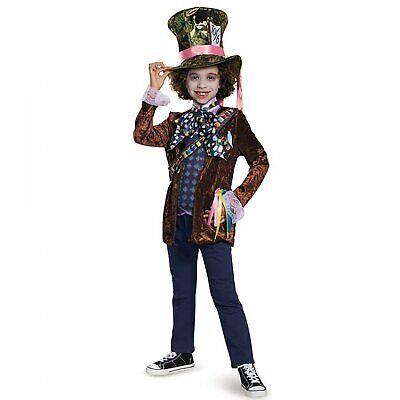 Child Mad Hatter Costume (New Disney Alice Through The Looking Glass Mad Hatter Child Costume Large)