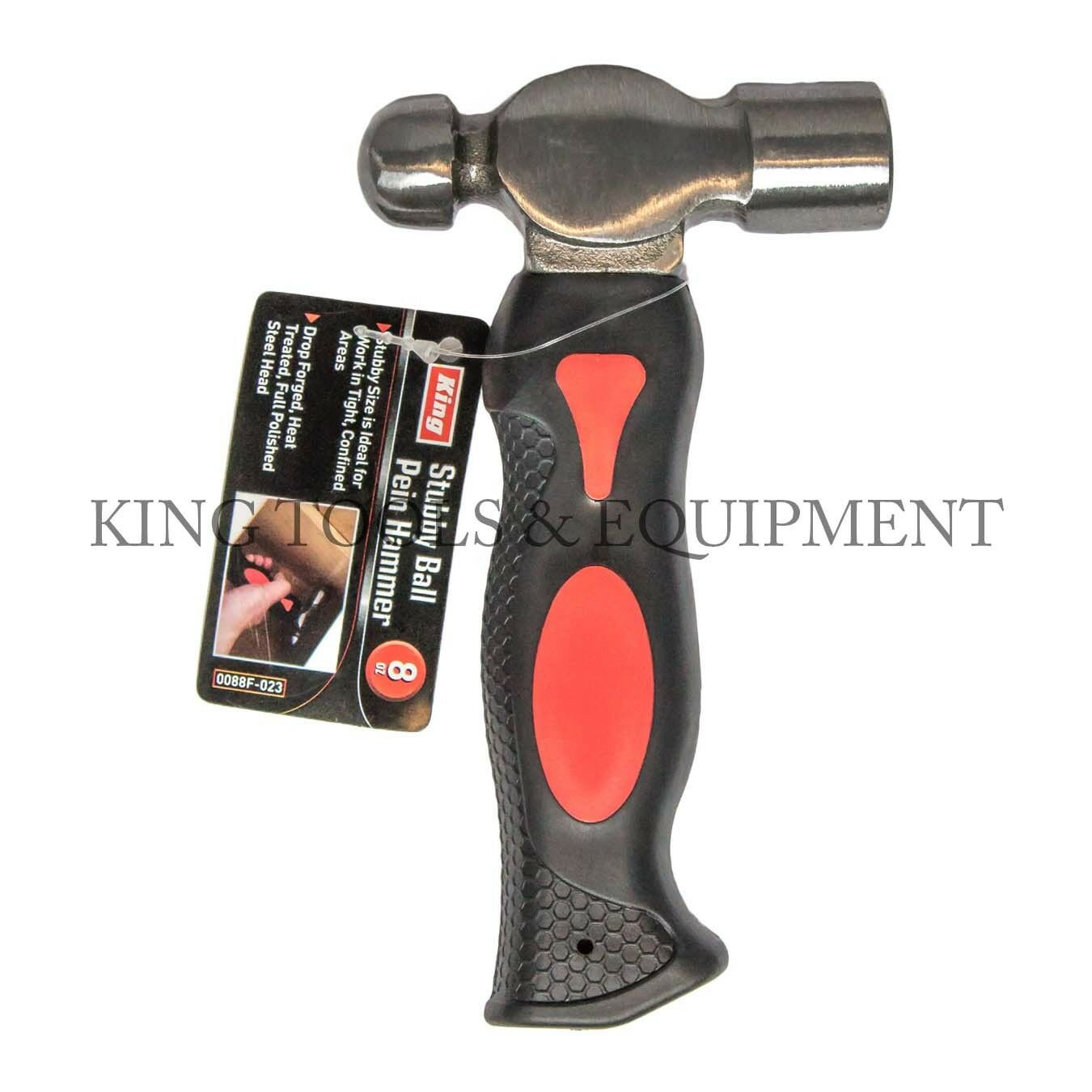 New KING 8 Oz Stubby Ball Pein Hammer, Small Peening Hammer For Metalworking